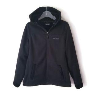 Marmot jacket hooded fleece lined sz Large